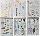 12 Bogen Tattoo Metallic Temporary Tattoos Gold Silber Anthrazit