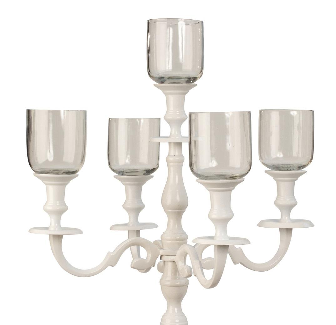 5 x Glasaufsatz für Kerzenständer Windlicht Aufsatz Kerzenleuchter