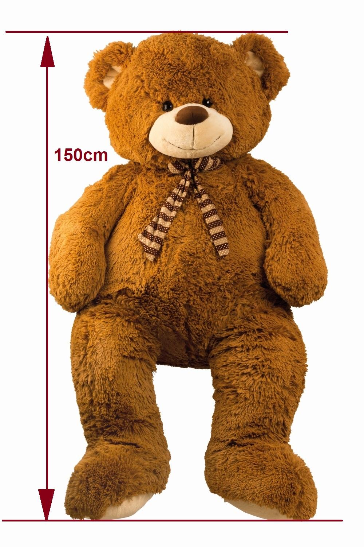 XXL Teddybär 150cm flauschiger Bär Kuscheltier Teddy Dunkelbraun ...