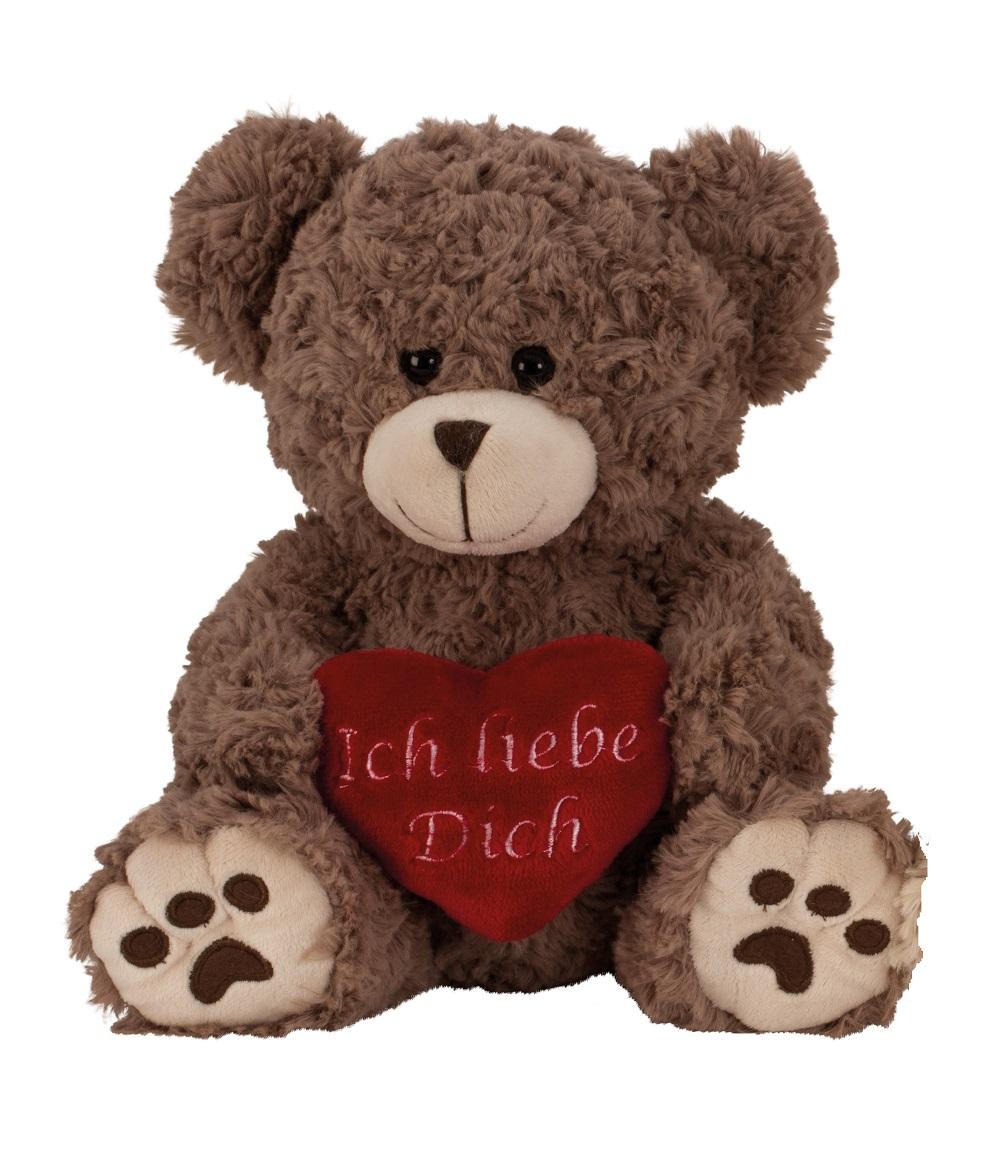 _  BRAUN Plüschtier Bär 25cm Herz Ich liebe Dich Kuscheltier Teddy