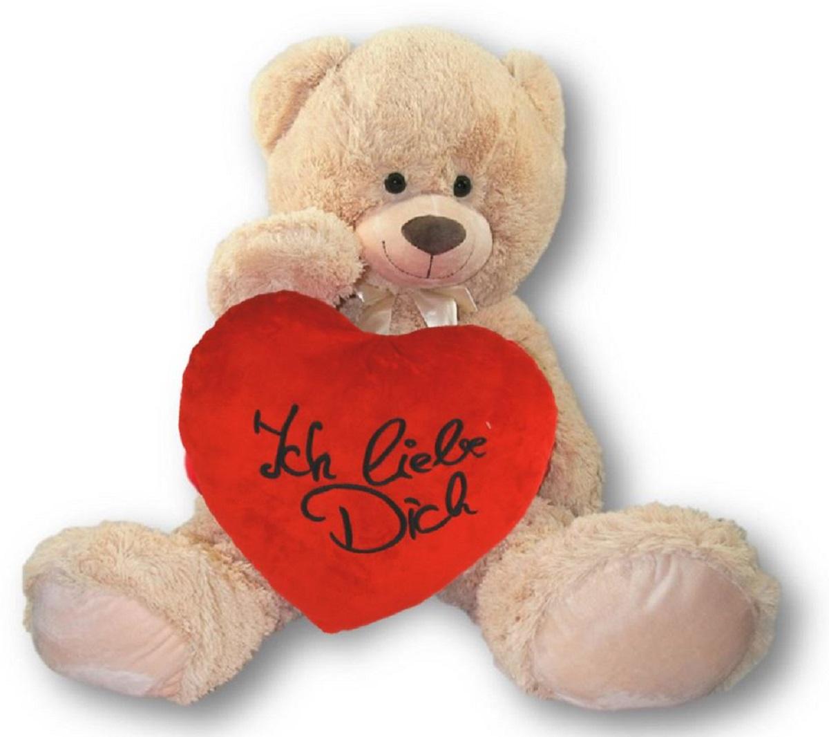 spiel  kuschelteddybären süßer grauer teddybär mit herz