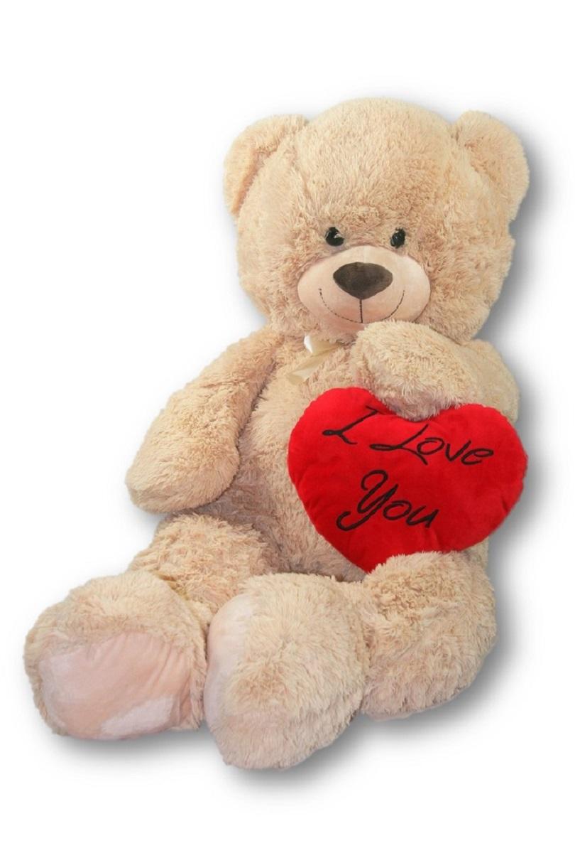XXL Teddy Bär 100 cm mit Herzkissen I love you 36 x 30 cm ...