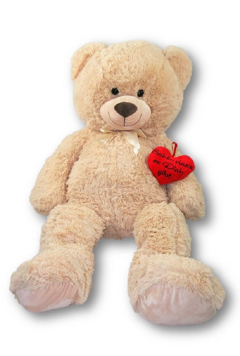 XXL Teddy Bär 100 cm mit Herzkissen Schön dass es dich gibt ...