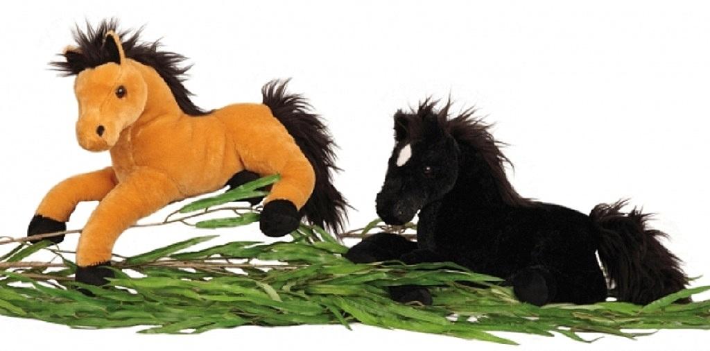_  BRAUN Plüschtier Pferd 37 cm lang Kuscheltier Stofftier Softtier