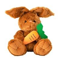 _  Hase mit Karotte 34 cm sitzend Kuscheltier Stofftier