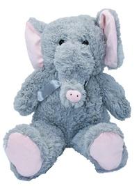 _  Elefant 50 cm groß in Grau mit Schleife Kuscheltier Stofftier