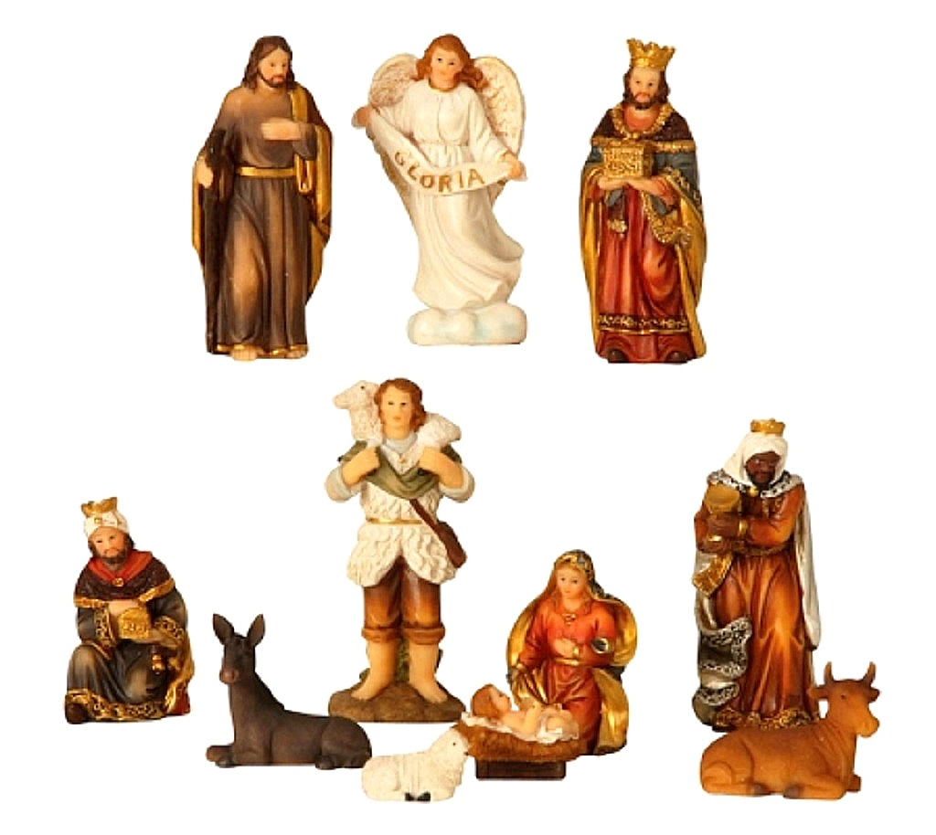 .. Krippenfiguren 11 teiliges Set Krippe Weihnachten Grösse bis 8,5cm