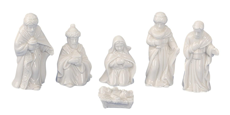 .. Krippenfiguren 6 teiliges Set Krippe Weihnachten Grösse bis 6cm