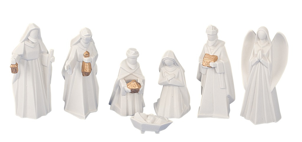 .. Krippenfiguren 7 teiliges Set Krippe Weihnachten Grösse bis 13 cm