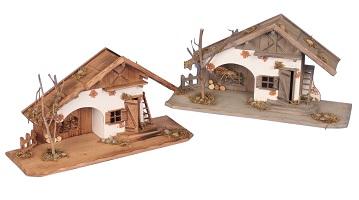 .. Holzhaus 55 cm Haus Krippe Landhaus Modell Holz
