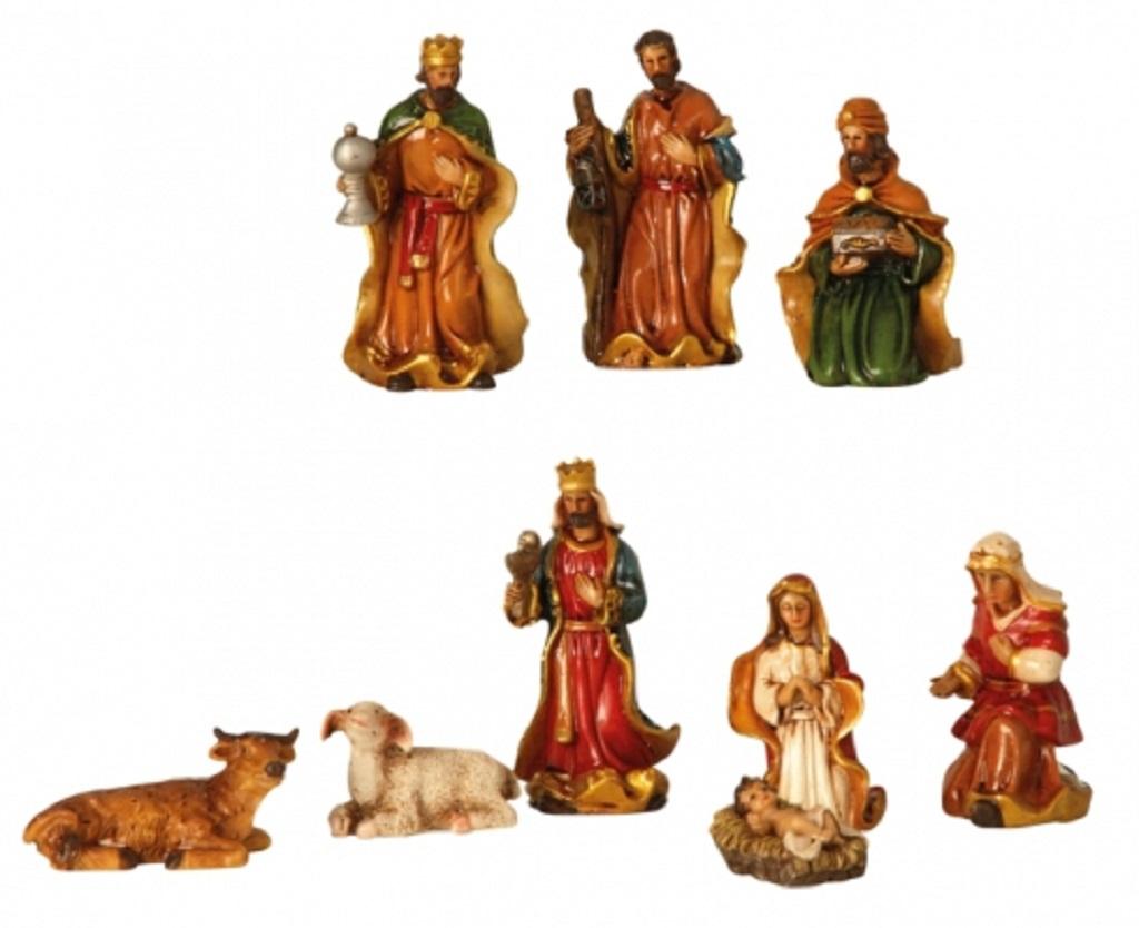 .. Krippenfiguren 9 teiliges Set Krippe Weihnachten Grösse bis 7,5cm