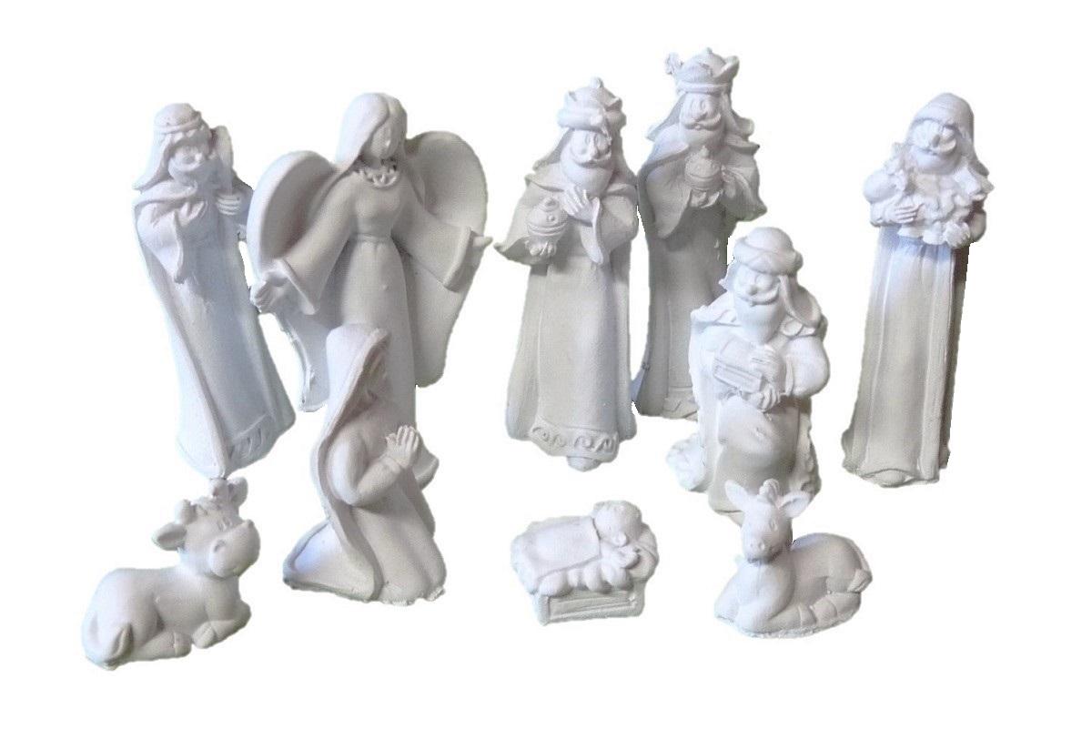 .. Krippenfiguren 10-teiliges Set Krippe Weihnachten Grösse bis 6,3cm