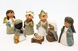 .. Krippenfiguren Set 7 teilig Kindergesichter Krippe Weihnachten