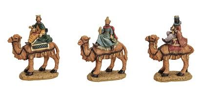 .. 3 Heilige Könige auf Kamel 11 cm Krippenfiguren Weihnachten