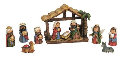 .. Krippenfiguren Set 11 teilig Kindergesichter Krippe Weihnachten